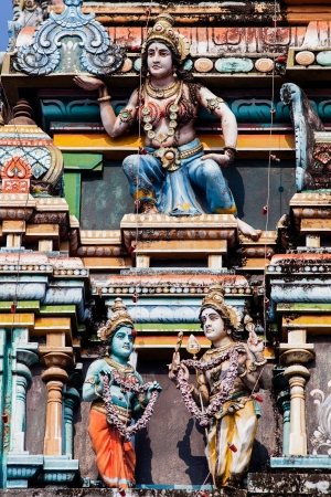 vishnu: gopuram of Vishnu Temple of Cochin in Kerala state india