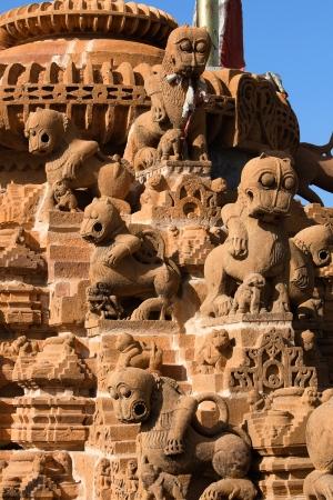 jain: rooftop of jain temples of jaisalmer in rajasthan state in india