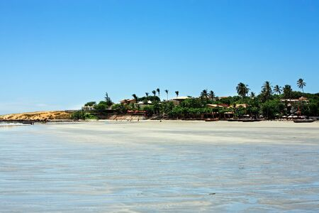 jeriquaquara: view of the big sand dune of the beautiful fisherman village of Jericoacoara in ceara state brazil