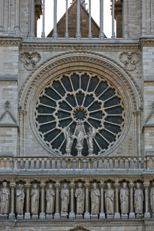 rose window: Notre Dame de Paris rosone da vicino Archivio Fotografico