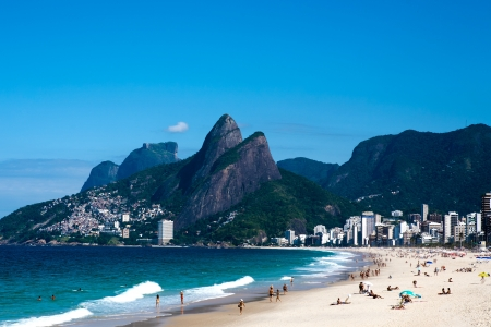 Angesichts der leblon Ipanema Beach in Rio de Janeiro Brasilien Standard-Bild - 18518283