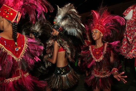 Sao Luis Do maranhao , Brazil-june 22th 2008 bumba meu boi festival music celebration every solstice of june in center historic city of soa luis do maranhao brazil