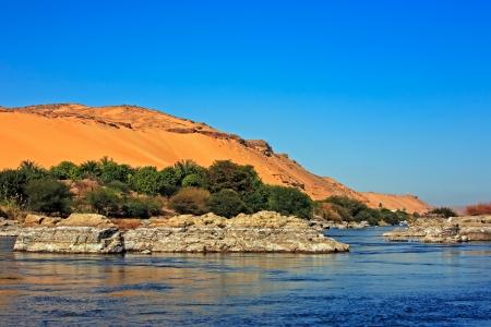 nile: cataract on the river nile in egypt near aswan