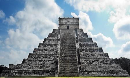 Kukulkan Pyramid  of Chichen Itza yucatan was a Maya  archaeological sites Mexico photo