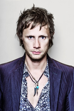 PARIS, FRANCE - JULY 04, 2012  Portrait of the english rock group Muse drummer Dominic Howard at Paris, France on july 4th, 2012