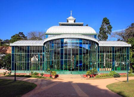 rio de janeiro: Orquidario the crystal palace of the ancient imperial city of petropolis in rio de janeiro state in brazil
