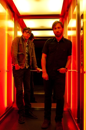 PARIS, FRANCE - NOVEMBRE 25, 2011  Portrait of the american rock group The Black Keys with Dan Auerbach and Patrick Carney at Paris, France on novembre 25th, 2011