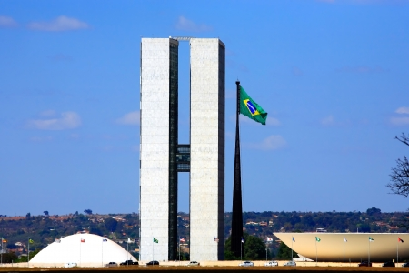 oscar niemeyer: The Metropolitan Cathedral of Brasilia city capital of Brazil  is an expression of the geniality of the architect Oscar Niemeyer Stock Photo