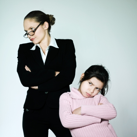 nanny teacher mother woman child conflict dipute problems education photo