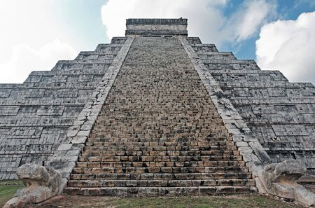 kukulkan: Kukulkan Pyramid  of Chichen Itza yucatan was a Maya  archaeological sites Mexico Stock Photo