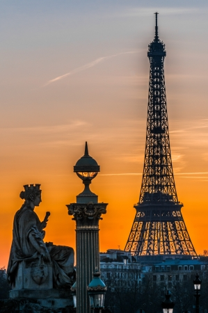 the eiffel tower in the city of Paris in france photo