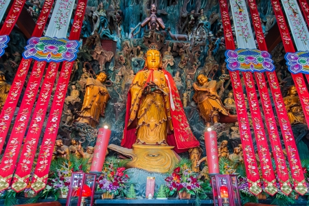 jade buddha temple: statue in the The Jade Buddha Temple shanghai china