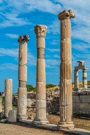 archaeology: Ephesus ancient greek ruins in Anatolia Turkey