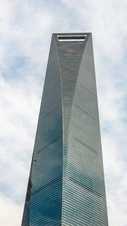 financial world: skyscrapers building Shanghai World Financial Center pudong shanghai china