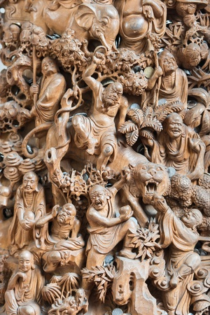 jade buddha temple: carving statue in the The Jade Buddha Temple shanghai china