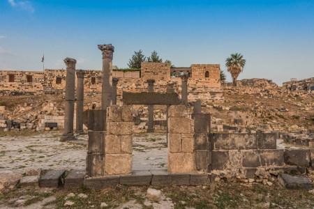 umm: Umm Qais gadara romans ruins  in jordan