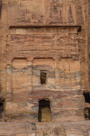 nabatean: The Silk Tomb  in nabatean petra jordan middle east Stock Photo