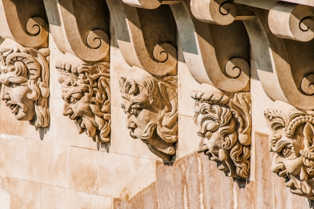detail of pont neuf in the city of Paris in france photo
