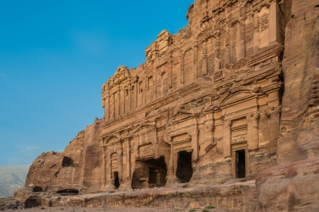 nabatean: The Palace Tomb in nabatean petra jordan middle east Editorial