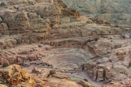 nabatean: roman theater arena  in nabatean petra jordan middle east