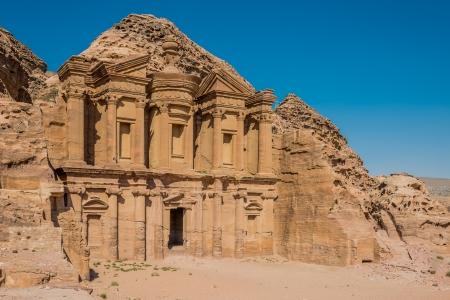 nabatean: The Monastery  Al Deir in nabatean petra jordan middle east Stock Photo