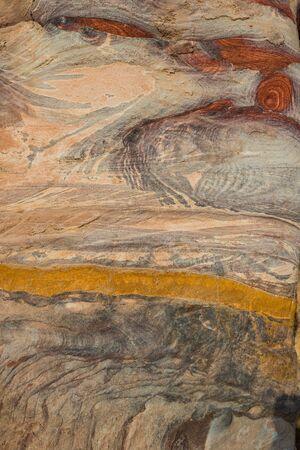 nabatean: wall inside royal tombs in nabatean petra jordan middle east