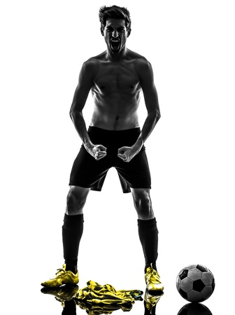 one brazilian soccer football player young man standing defiance Stock Photo - 20726398