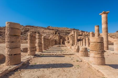 nabatean: roman temple in nabatean petra jordan middle east