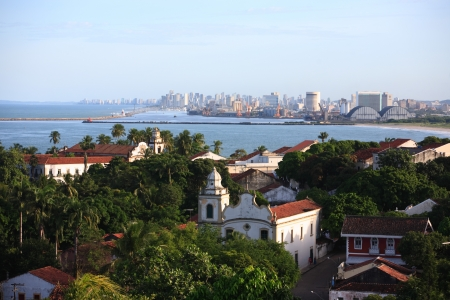 streetscene: cityscape of olinda and recife pernambuco state brazil
