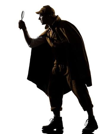 Sherlock holmes silhouette en studio sur fond blanc Banque d'images - 20893580