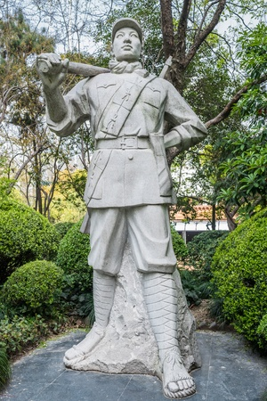 peoples: revolutionary hero statue in peoples park in peoples square shanghai  in republic popular of china Stock Photo