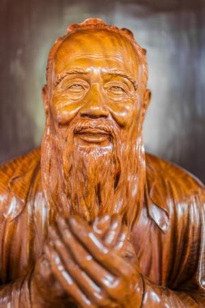 confucian: statue of Wen Miao confucian confucius temple in shanghai china popular republic Stock Photo