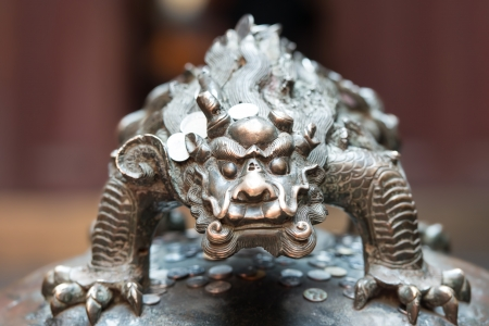 jade buddha temple: dragon statue in the The Jade Buddha Temple shanghai china Stock Photo