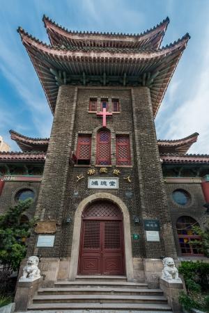 shanghai china: Hongde Tang church Duolun Road Hongkou District shanghai china