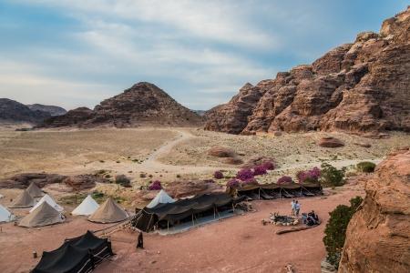 musa: Wadi Musa, Jordan - May 9, 2013: bedouin camp resort near Petra Jordan Editorial