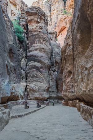 siq: the siq path in nabatean petra jordan middle east