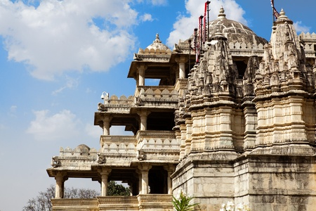 adinath jain temple in rajasthan state in india photo