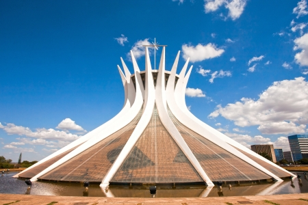 heritage site: Cathedral Metropolitana Nossa Senhora Aparecida The Metropolitan Cathedral of Brasilia city capital of Brazil UNESCO World Heritage site is an expression of the geniality of the architect Oscar Niemeyer