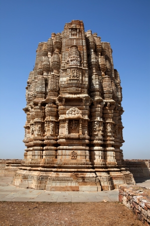 inside the Chittorgarh fort aera in rajasthan state in india photo