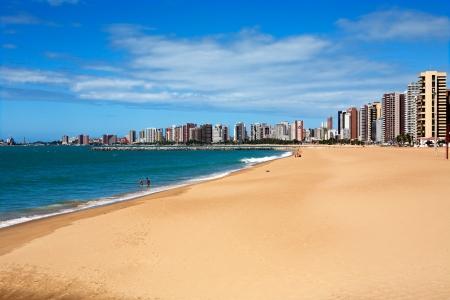 brazil beach: waterfront of Fortaleza in ceara state brazil Stock Photo