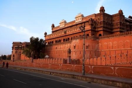 ramparts: Junagarh Fort in city of Bikaner rajasthan state in india