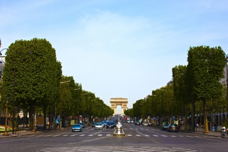 champs: Beautiful Champs Elysees Avenue in paris france