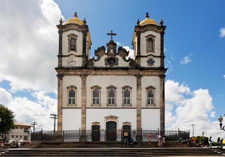 바 히아 주 브라질 살바도르의 아름다운 도시에있는 bonfim 교회