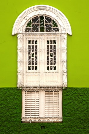 luis: window house of the historic center of the city of sao luis of maranhao in brazil
