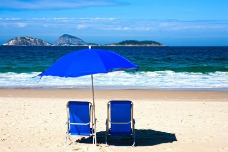 bleu transat sur la plage d'Ipanema Rio de Janeiro Br?sil