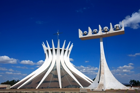 oscar niemeyer: The Metropolitan Cathedral of Brasilia city capital of Brazil UNESCO World Heritage site is an expression of the geniality of the architect Oscar Niemeyer