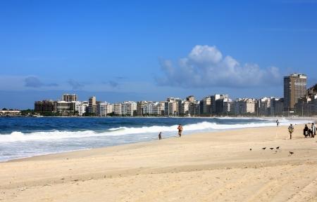 rio de janeiro: copacabana beach in rio de janeiro in brazil