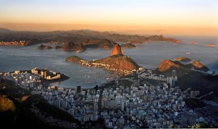 rio de janeiro: aerial view of botafogo and the sugar loaf in rio de janeiro brazil Editorial