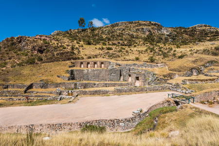 archaeology: Tambomachay, Incas ruins in the peruvian Andes at Cuzco Peru South America