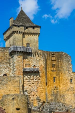 CASTELNAUD-LA CHAPELLE, FRANCE - JUNE  22, 2012: exterior of Castle of Castelnaud La Chapelle on June 22th, 2012 at Dordogne Perigord France
